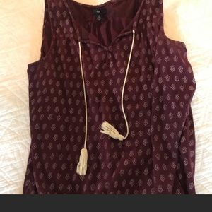 Tunic top with tassel